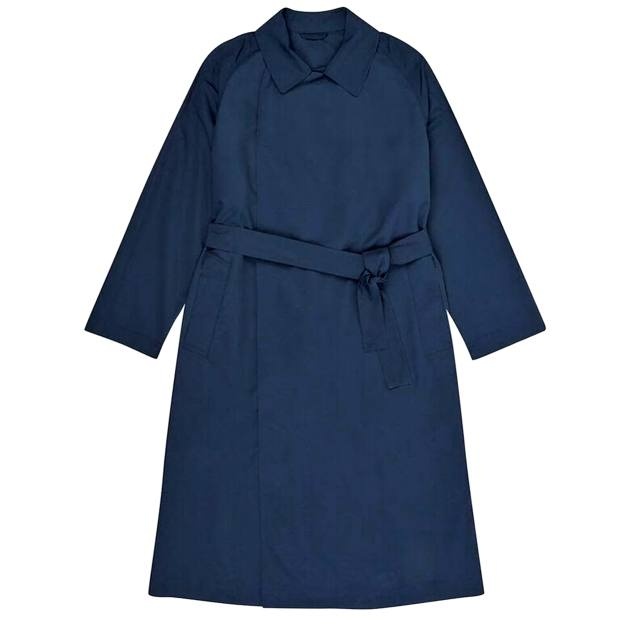 Silk/polyester trench overcoat, £795