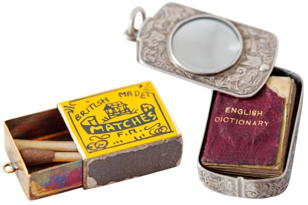 Sophie Hulme's vintage matchbox and dictionary charm pendants