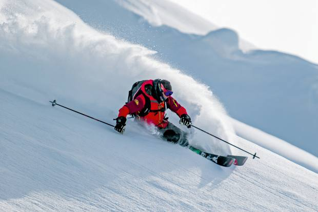 The company's co-owner Tommy Moe experiences the thrills of Alaska's legendary terrain, often featured in ski movies