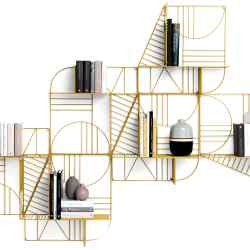 Mogg lacquered-metal Musa shelf by Alessandro D'Angeli, £200 per module