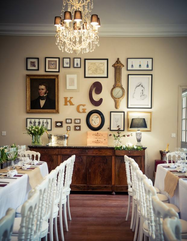 The dining room in the original Krug family home