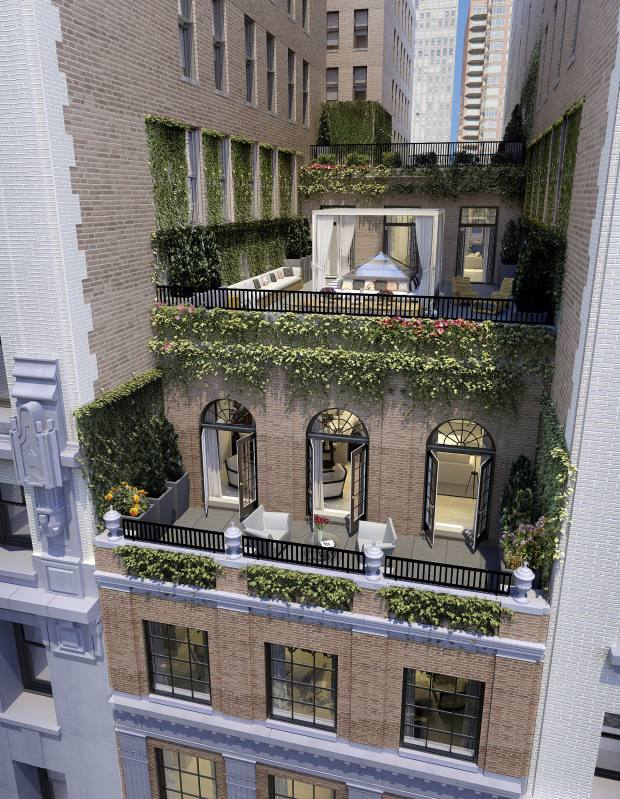 Rendering of the exterior Penthouse at The Whitman, priced at $25m