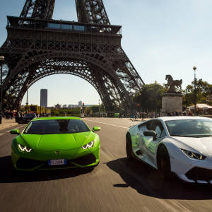 Waldorf Astoria guests will be able to get behind the wheel of one of two 200mph Lamborghinis for a 30-minute spin around Paris
