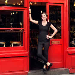 Carole Bryon at her new venture, Lady of the Grapes