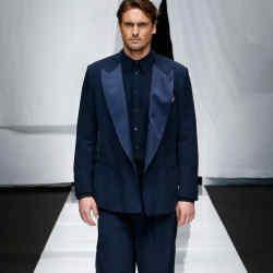 Giorgio Armani cupro tuxedo jacket, £1,450