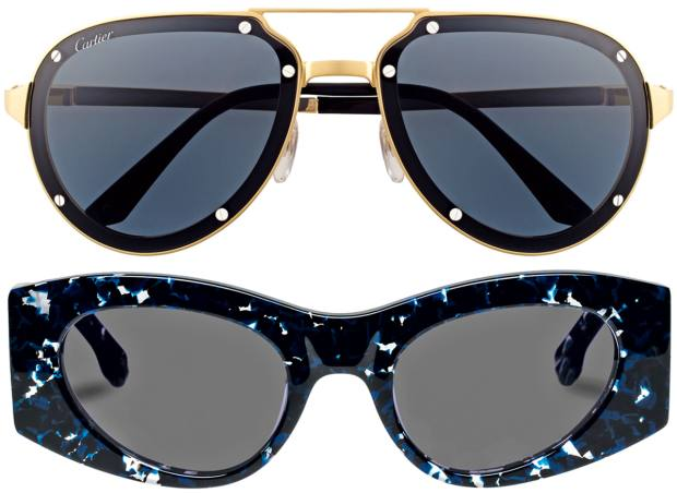 From top: Cartier, £835. Le Specs Luxe, $129
