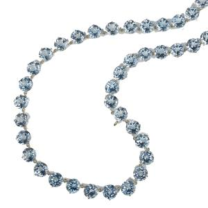 Cassandra Goad Rivière necklace in gold and blue topaz, £7,400