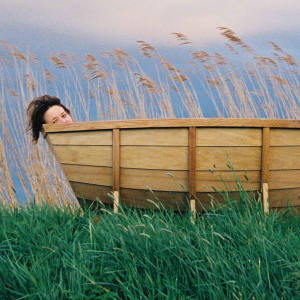 "Wieki Somers's Bathboat, 2005, in oak and red cedar wood, €25,000, captures ""a personal memory in an everyday object""."
