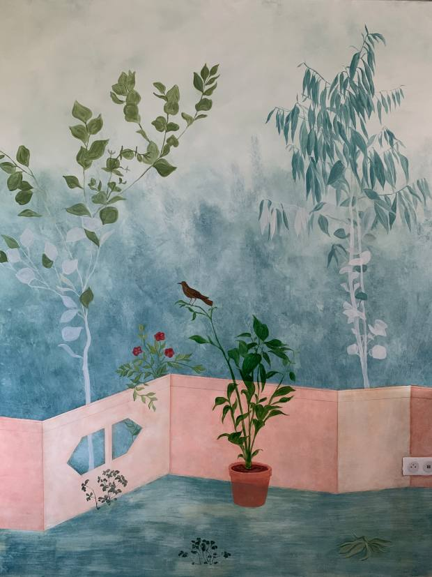Maxted Murals' design for a house inLa Réole, France