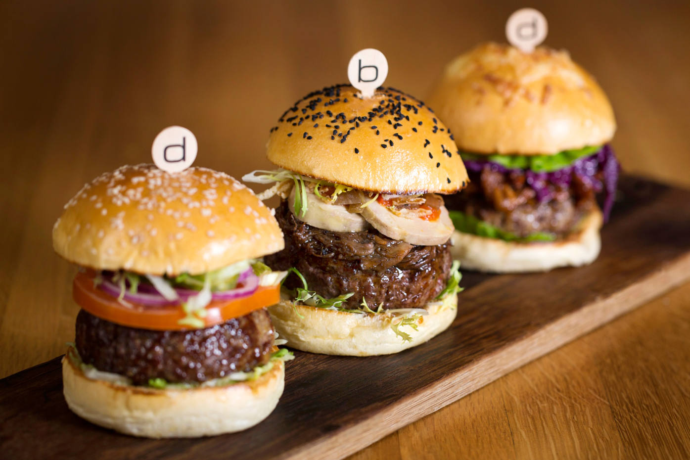 Hamburgers at Bar Boulud