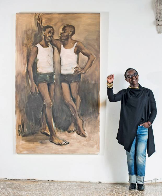 Lynette Yiadom-Boakye was the main winner of the Future Generation Art Prize in 2012
