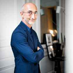 Pierre Hardy photographed at home in Paris