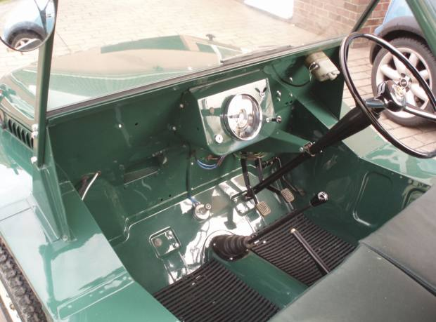 The interior of a 1960s English example