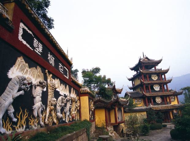 Shibaozhai Temple is now part submerged by the Yangtze.