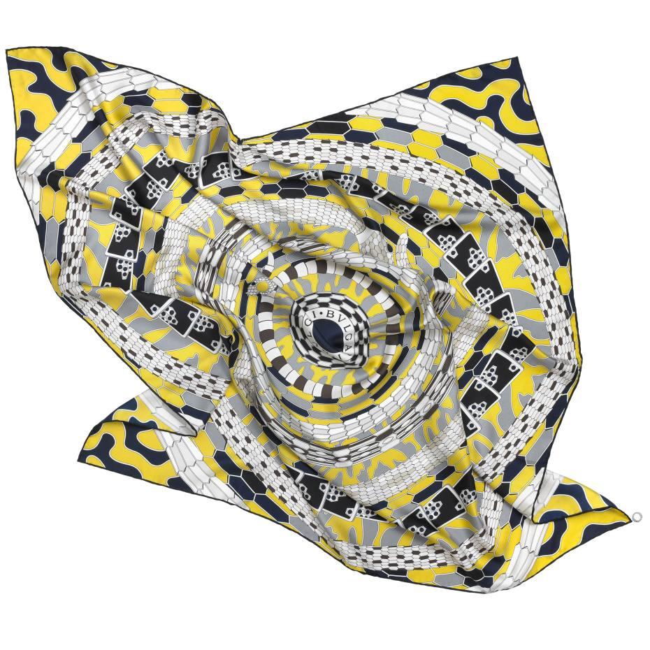 Bulgari silk twill Serpenti Reverie scarf, £315