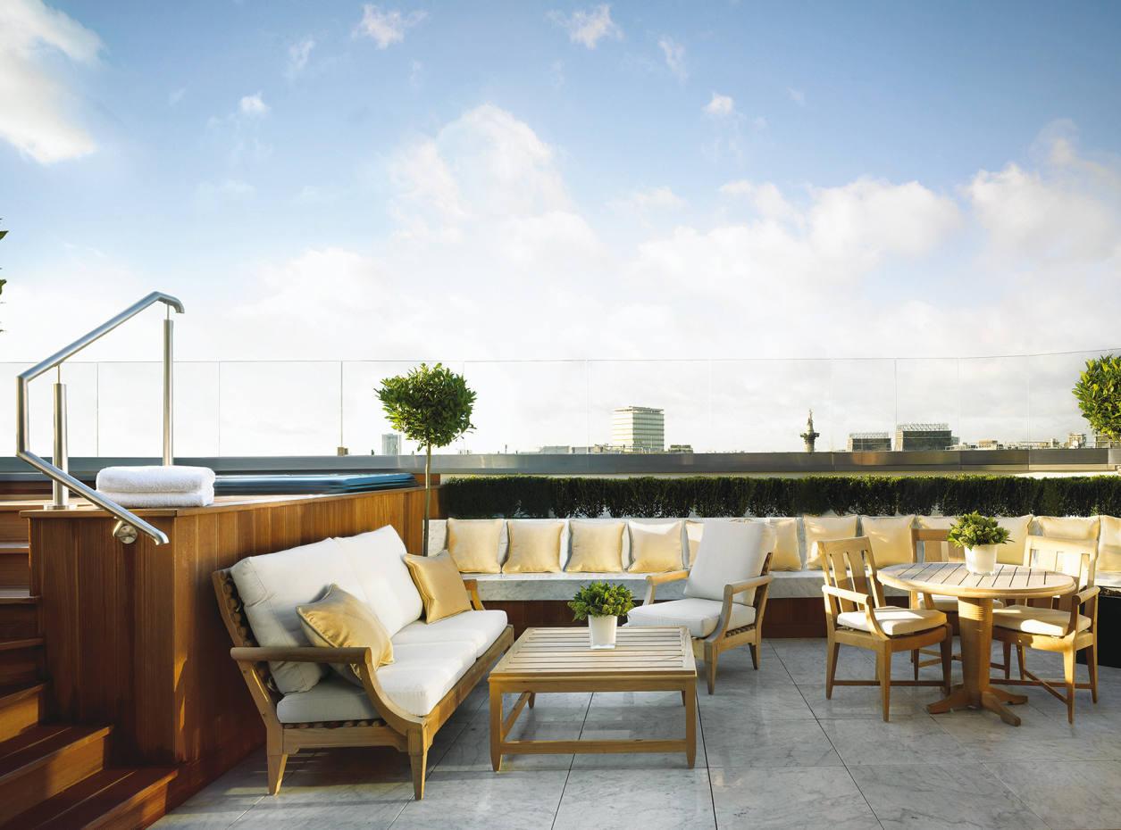 The Hamilton Penthouse terrace at the Corinthia Hotel, London