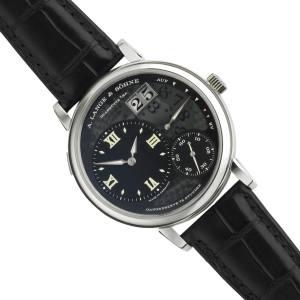 A Lange & Söhne limited-edition Grand Lange 1 Lumen watch in platinum on crocodile strap, £48,000