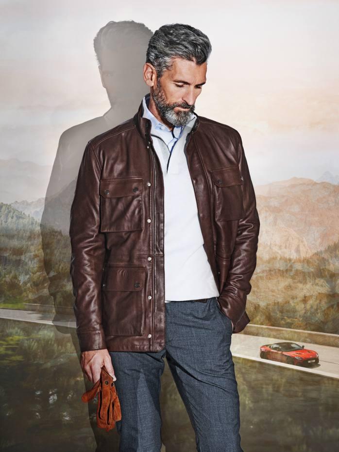 Aston Martin by Hackett nappa leather jacket, £995