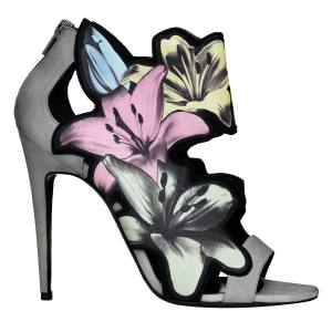 Pierre Hardy Lily sandals in leather and suede, €860. Also in other colours