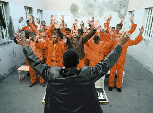 A 2006 photograph of a church service in Beaufort West prison by Mikhael Subotzky.