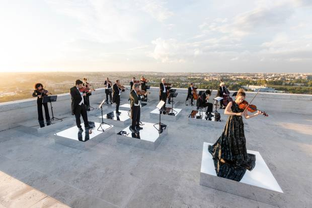 The Vivaldi performance – on the rooftop of the Fendi building – will be live-streamed