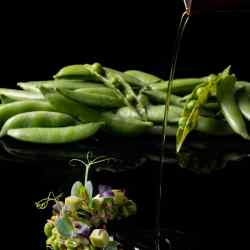 Summer Peas – Funky Gourmet's version of ladera (a Greek vegetable stew) using Costa Navarino's seasonal peas