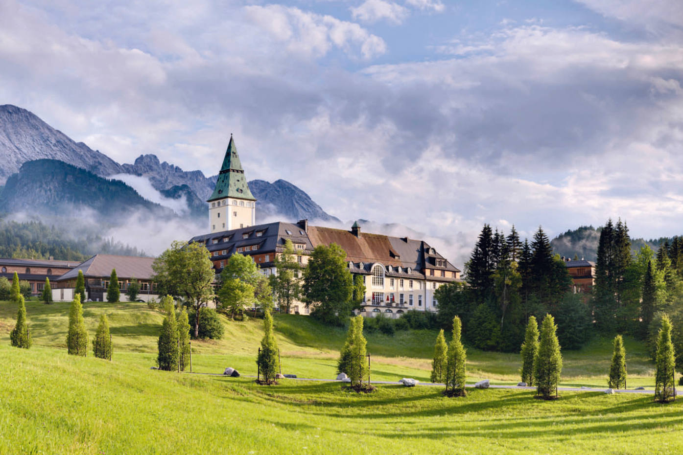 Schloss Elmau, at the foot of the Wettersteins in Bavaria