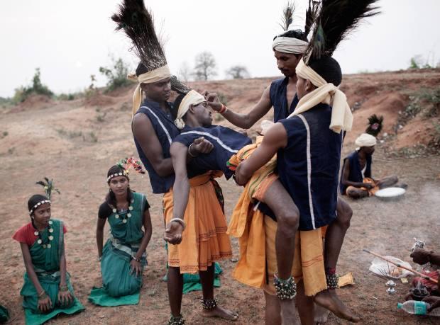 The Kariha perform the Muriya tribal folk dance