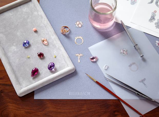 Every bespoke piece of jewellery starts with a one-on-one appointment before the jewellery designer drafts several designs and sketches