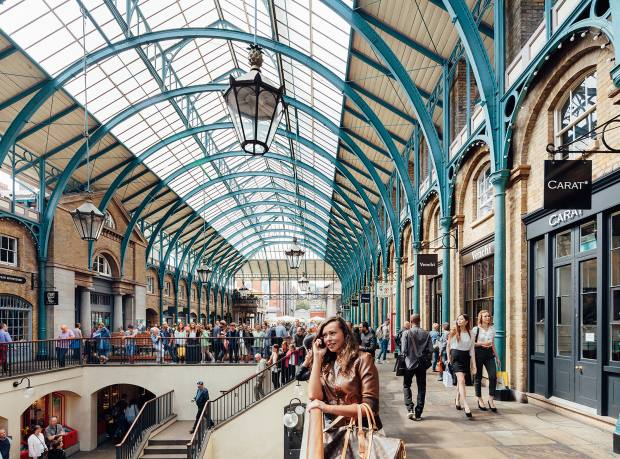 Covent Garden's revamped market hall