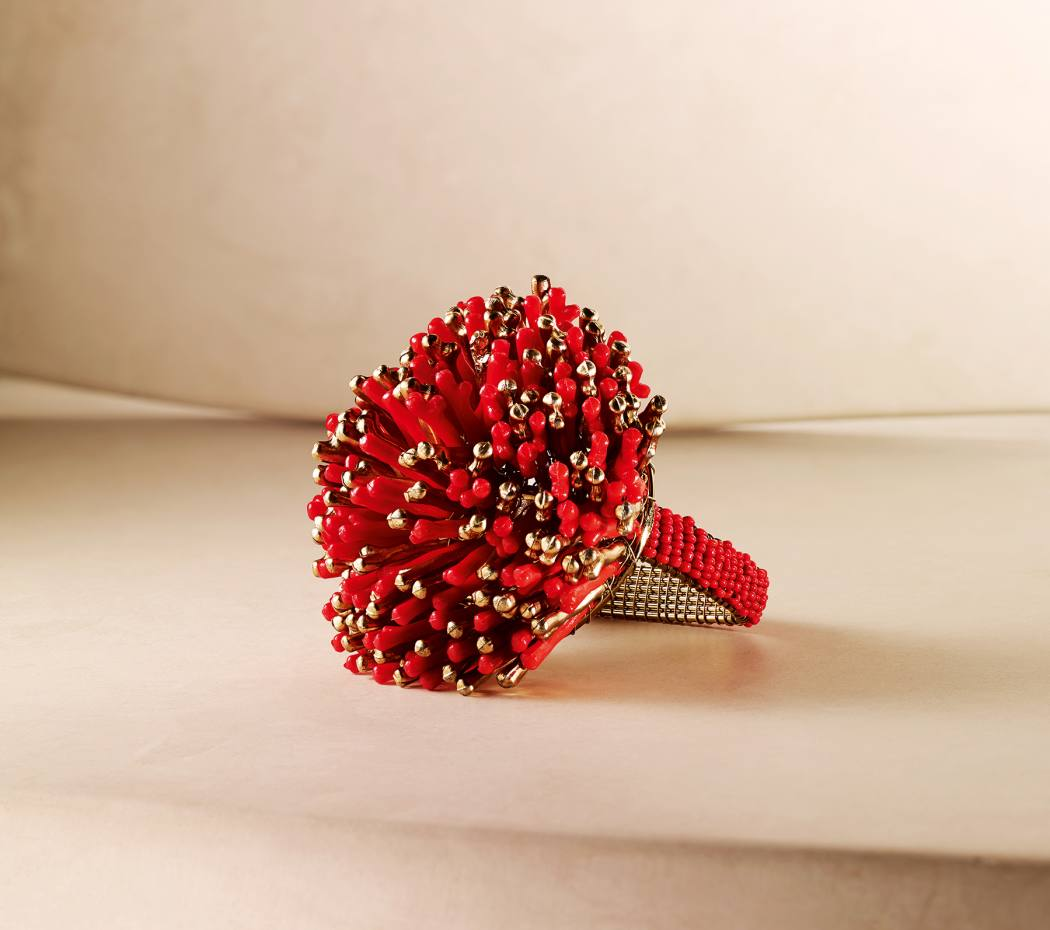 Sunburst napkin ring, $92 for a matching set of four (available in three other colours)