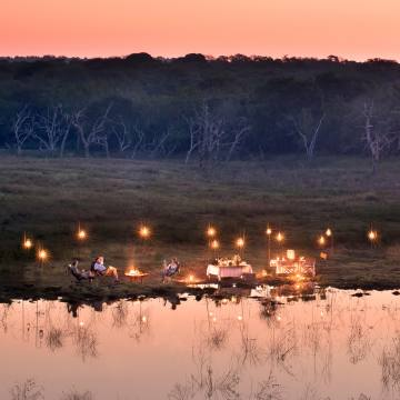 andBeyond's new Phinda Impact Journey in South Africa includes a night of dining and sleeping in the wild