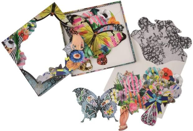 Christian Lacroix set of six Frivolities Fan notecards, £28 from Harvey Nichols