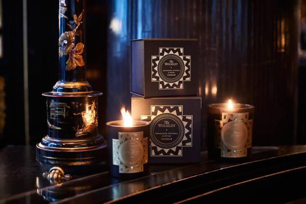 TheWolseleycandle, from £49, with a deep, smoky blend of cedarwood and patchouli