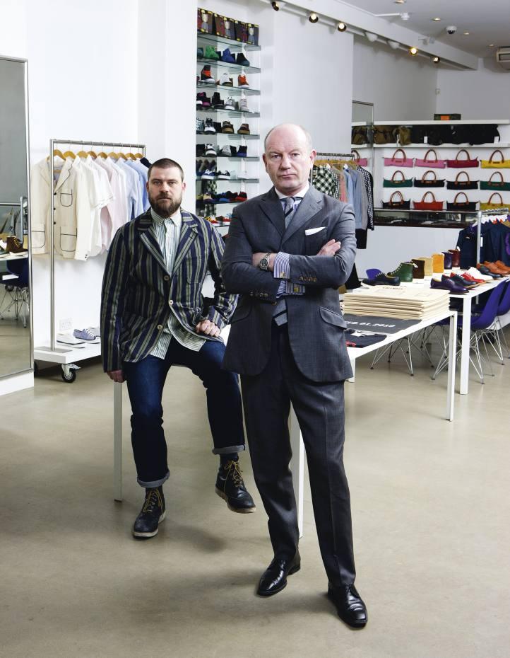 Steve Davies (left) and Eddie Prendergast in their Shoreditch menswear shop, Present.
