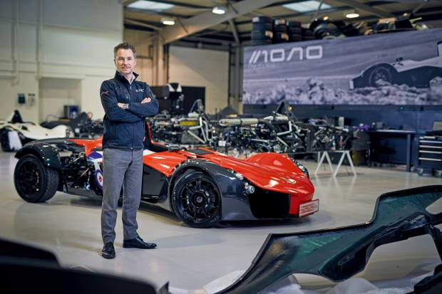 Neill Briggs – who created the Mono in partnership with his brother Ian – at the marque's factory