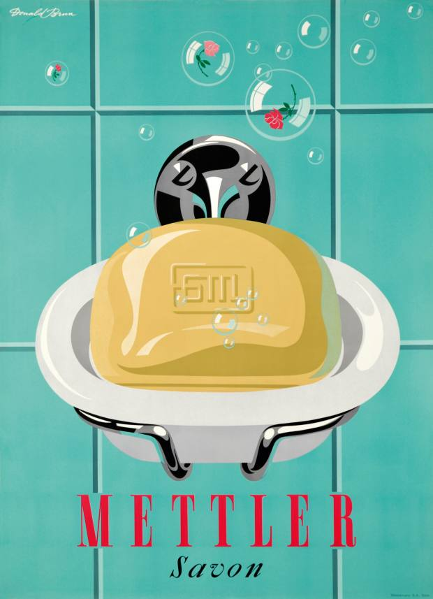 1950 Donald Brun Mettler soap poster, about £1,710, from Galerie 123