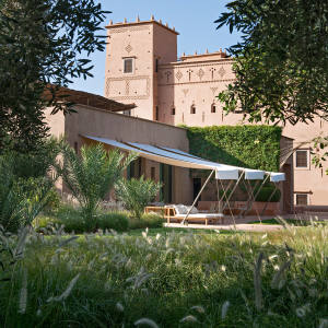 Dar Ahlam Dunes Camp – a hotel in a restored 19th-century kasbah on the edge of the Sahara