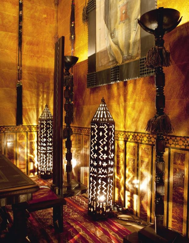 The dining room in Serge Lutens' Moorish palace, his painstaking restoration project.
