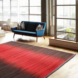 Wool Red Charcoal Gelim flatweave rug, 240x170cm, from £995