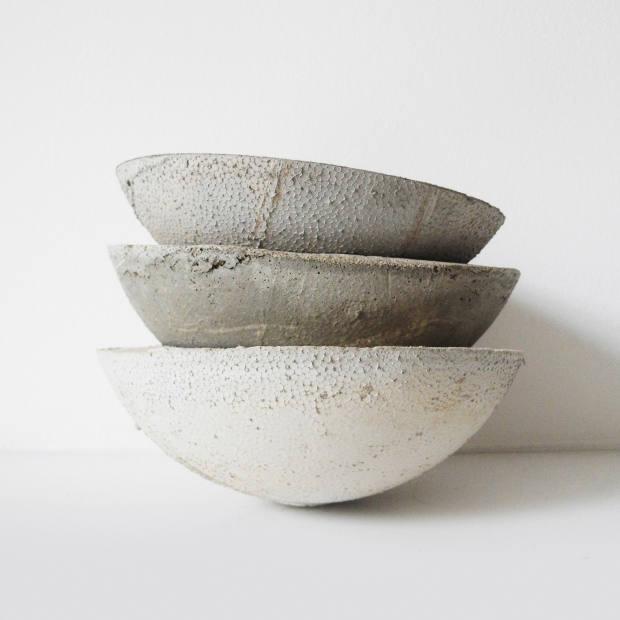 Katharina Eisenkoeck for EK Design concrete bowls, from £60