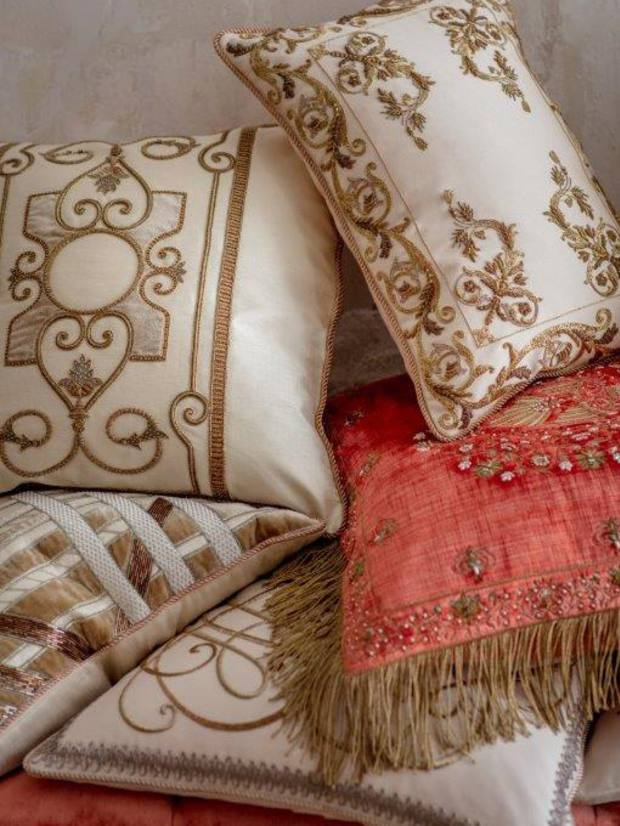 Beaumont & Fletcher embroidered cushions, from £1,500