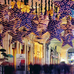 Christmas decorations in Piazza San Carlo.