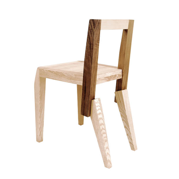 Walnut, cherry and ash Feral chair by Nigel Coates, £590