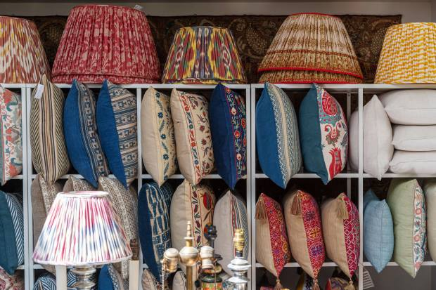 Susan Deliss, a textile showroom in Notting Hill
