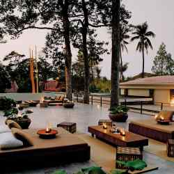 The roof terrace at Amansara resort