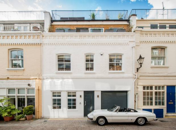 A four-bedroom house in Clabon Mews, Knightsbridge, £8.495m through Strutt & Parker