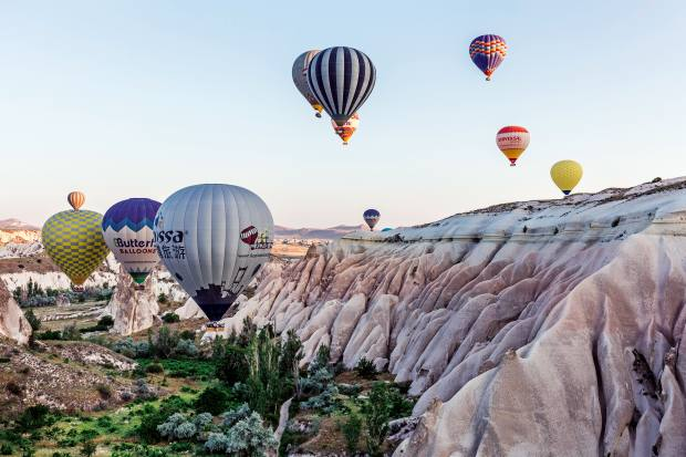 From spring the air in Cappadocia becomes alive with hot-air balloons