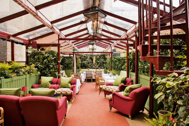 Mark's Club, which reopened in 2015 and hosts cigar dinners on its terrace