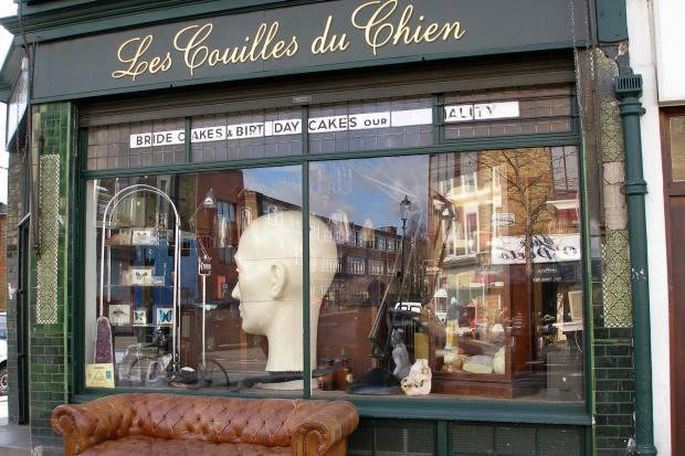 LesCouilles du Chien on Golborne Road, a go-to shopfor funky antiques